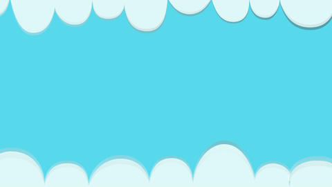 Background clouds with blue sky animation.Simple clouds on horizontal Animation