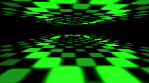 3d green dance floor Animation