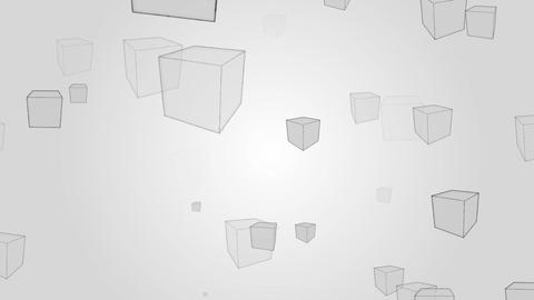 Abstract boxes pattern rotation on gray backgroud... Stock Video Footage