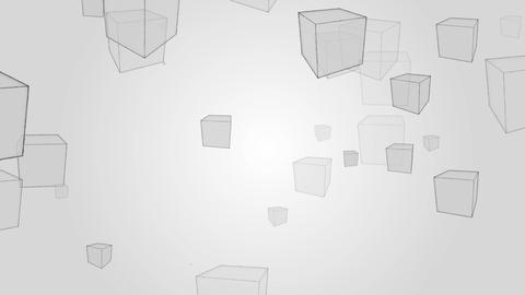 Abstract boxes pattern rotation on gray backgroud motion.Design geometry pattren video Animation