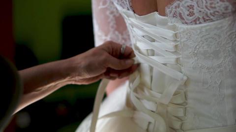 Wedding dress. Preparations for the wedding Footage