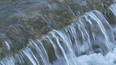 4K Ungraded: Water Stream Seething and Foam, Passing River Rapids Footage