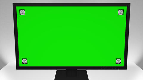 1080p Computer Monitor / White Room / Software Presentation Mock-Up Footage