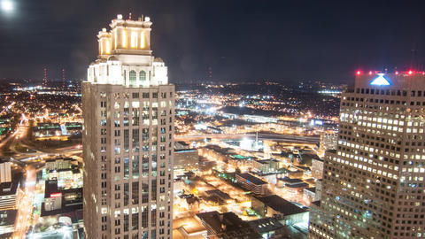 Timelapse view over Atlanta Footage
