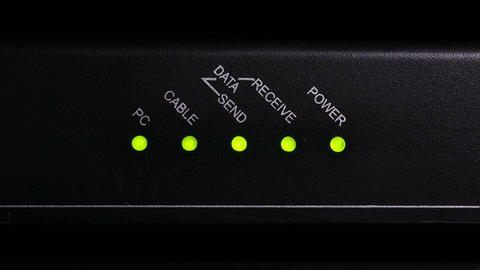 4K Ungraded: Internet Modem / Home Network / Cable Networking Live Action