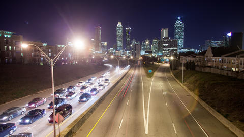 Timelapse view of traffic in Atlanta Footage