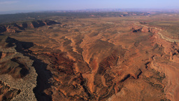 Panning shot of the Moab Valley landscape in Utah Footage