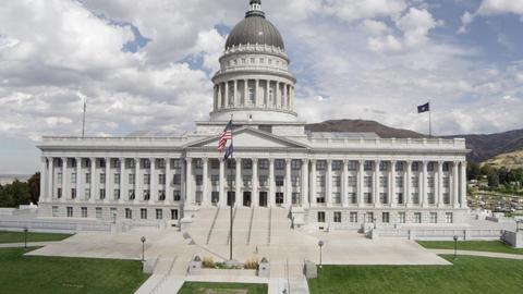 Utah State Capitol Building Footage
