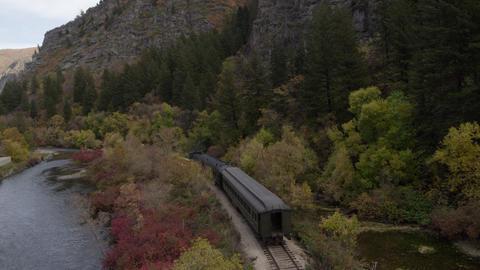 Train Rolling through Scenic Landscape Live Action