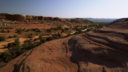 Aerial view of mountainside at the Moab Desert in Utah Footage