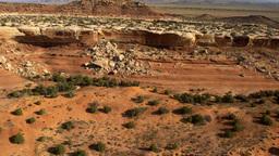 Panning shot of Moab desert in Utah Footage