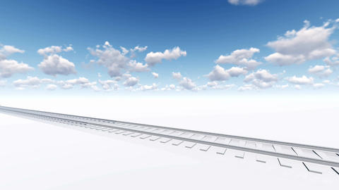 Abstract freight train 3D animation Stock Video Footage