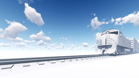 Freight train on abstract background 4K animation Animation