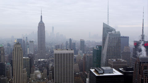 Static view of the Manhattan Skyline Footage