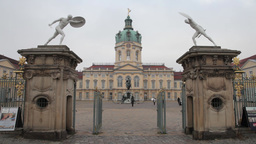 Charlottenburg Palace on a cloudy day in berlin germany Footage