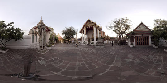 Wat Pho in Bangkok - the Temple of the Reclining Buddha - 360° VR VR 360° Video