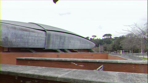 Glitch effect. Auditorium Parco della Musica Rome, Italy Live Action