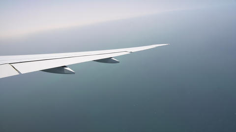view from the window of the aircraft on the wing. passenger aircraft. the plane Footage