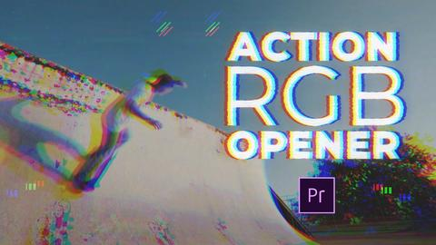 Action RGB Opener Premiere Pro Template