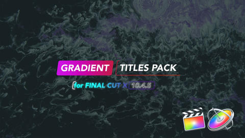 Gradient Titles Apple Motion Template