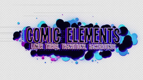 Comic Video Elements After Effects Template