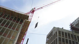 Construction Crane Airlifting Panel Live Action