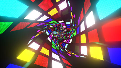 Colorful Light Tunnel Animation