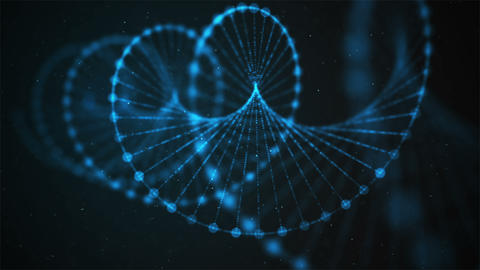Creative animation of DNA UHD with alpha Footage