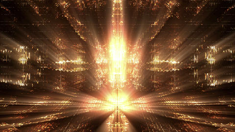 Abstract Golden Lights Animation
