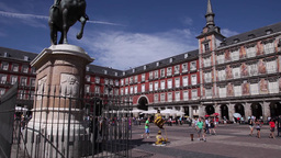 Plaza Mayor in Madrid, Spain Footage