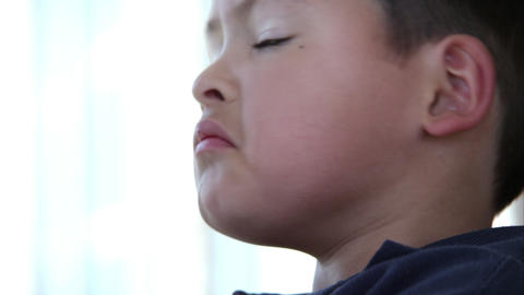 Close up of latino boy's face Footage