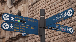 information boards from barcelona street Live Action