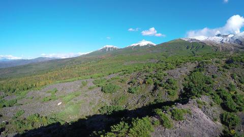Aerial shoot from Tokachidake Footage