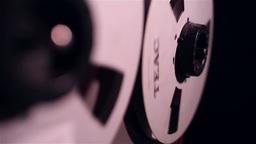 Vintage Reel-to-Reel Tape Recorders, Slider Shot stock footage