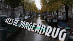 bridge at Prinsengracht, canal in amsterdam Footage