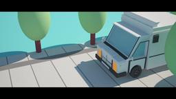 Cartoon 3D Truck stock footage
