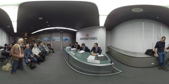 360 VR Czech Airlines press conference at Sheremetyevo Airport in Moscow Footage
