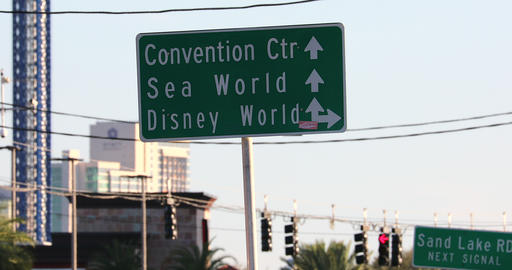 Attractions Signs At Orlando Footage