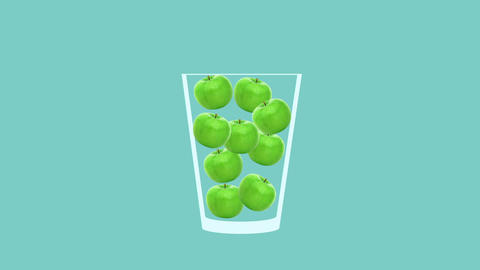 Fresh fruit cocktail animation Animation