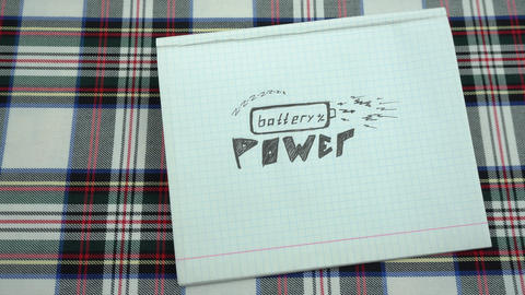 Drawing battery power Stock Video Footage