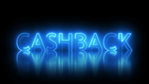 Cashback text with visual effect of electricity and illumination, 3d rendering Footage