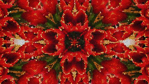Bright beautiful mosaic like flower, beautiful ornament, 3d render computer Footage