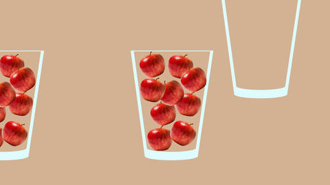 Fresh fruit juice conveyor animation Animation