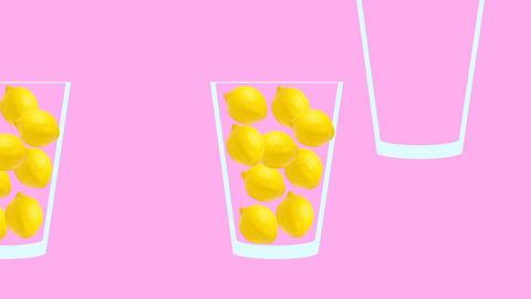 Fresh fruit juice conveyor animation Videos animados