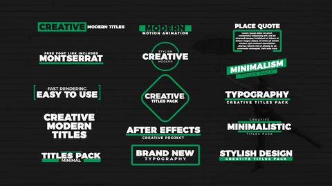 Stylish Titles Motion Graphics Template
