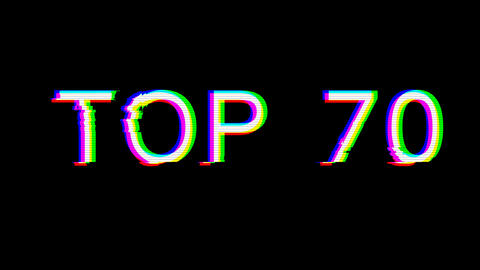 From the Glitch effect arises best TOP 70. Then the TV turns off. Alpha channel Premultiplied - Animation