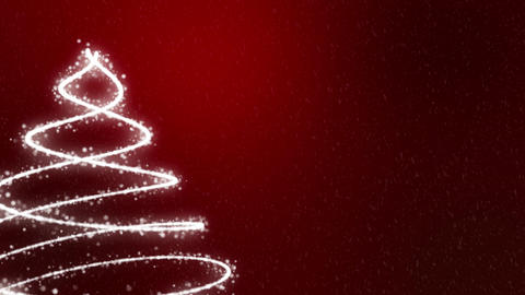 Christmas Tree Background - Merry Christmas red Animation
