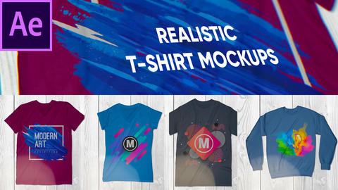 Realistic T-Shirt Mockup Pack After Effectsテンプレート
