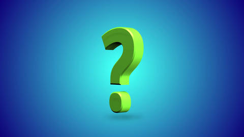 Question Mark 3d Animated Looping Background Blue Animation