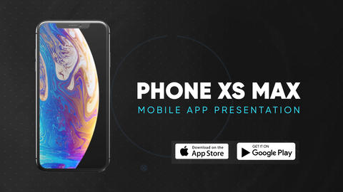 Phone Xs Max - Smartphone App Presentation After Effectsテンプレート